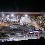 A 9,000 tonne bridge is put into position over HS1. Credit: Bechtel.