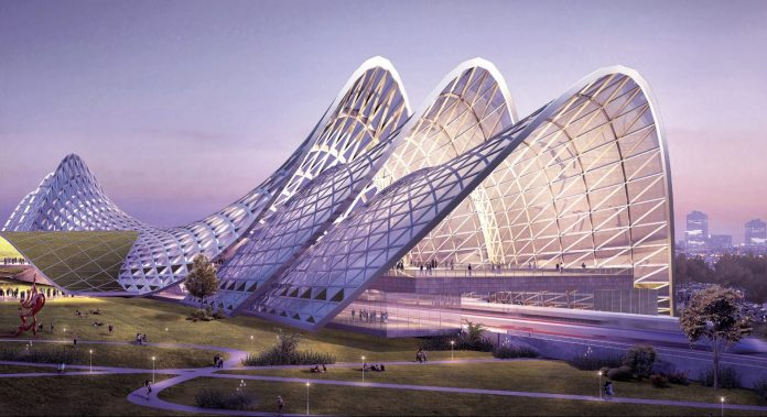 A computer generated image of the planned high-speed station at Seremban, Malaysia. Photo: MyHSR.